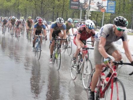 Wielrennen in regen