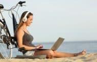 Laptop mee op fietsvakantie